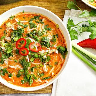 Spicy Thai Chicken Noodle Soup.