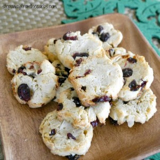 Low Carb Cranberry Almond Cookies.