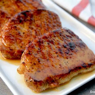 Apple Cider-Glazed Pork Chops.