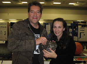 Photo: Geoff again, trying to make it look like *I'm* holding the metric-ton meteorite, but I'm totally faking ;)