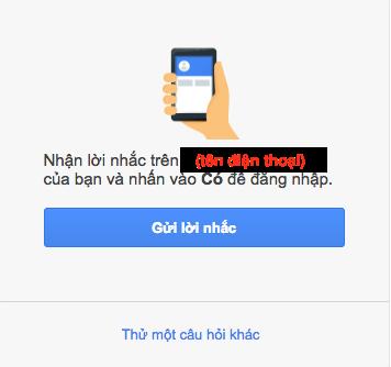Khôi phục tài khoản Gmail qua số điện thoại