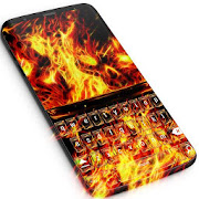Fire Skulls Keyboard Theme