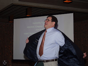 Photo: David Knebel, vice president of sales and technology at AAON Inc. was the program speaker for the evening