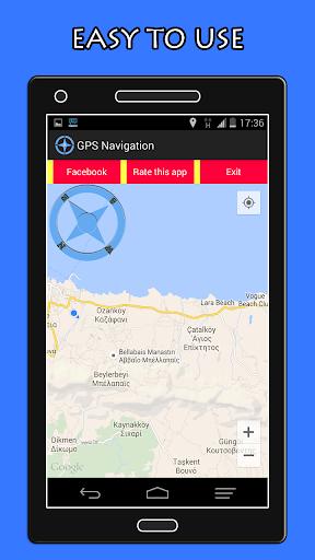 GPS導航+羅盤
