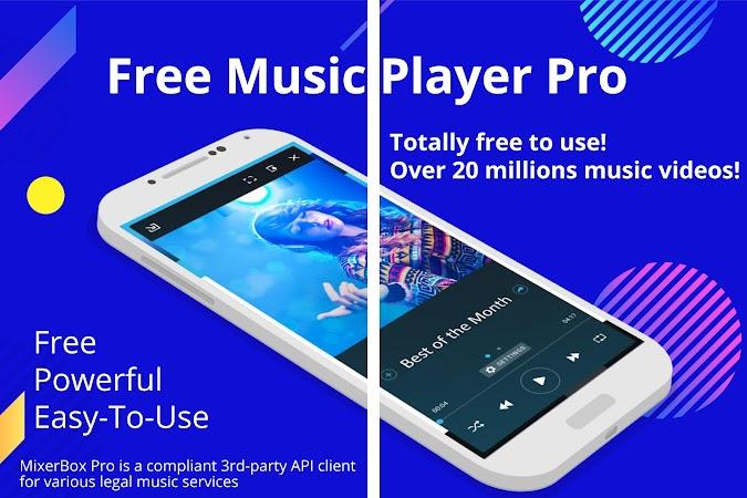 Скачать Free Music App(Download):MixerBox Music Player PRO