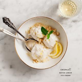 Meyer Lemon Ice Cream.