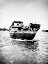 """Photo: """" Two Eyes To Sea """" - On the Mekong - Vietnam Adventures with a budget camera album - 2006"""