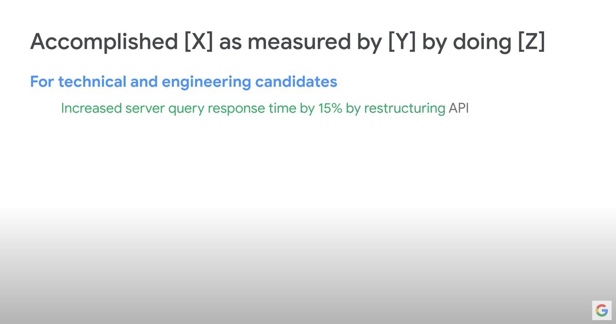 Googel Metrics on your resume