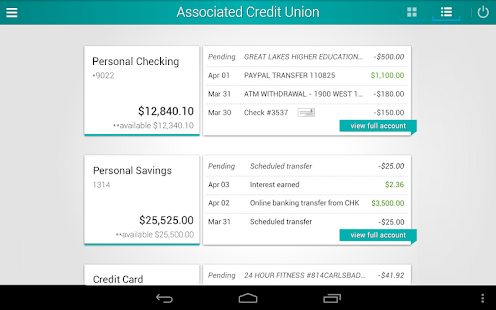 Associated Credit Union Mobile- screenshot thumbnail