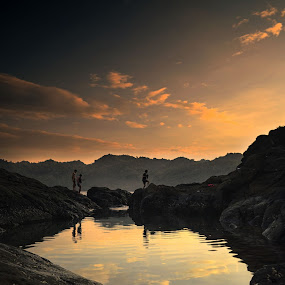 across the mirror above mountain by Ferry Febriyanto - Landscapes Mountains & Hills
