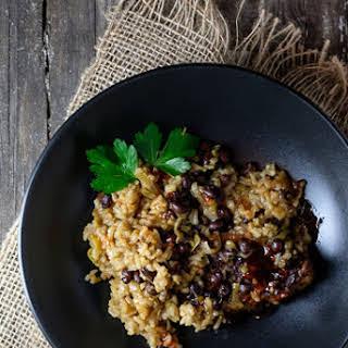 Instant Pot Pork Tenderloin with Black Beans and Coconut Rice.