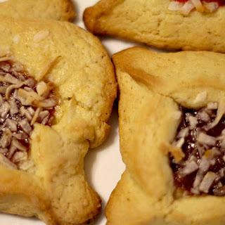 Cherry Coconut Hamentashen Cookies