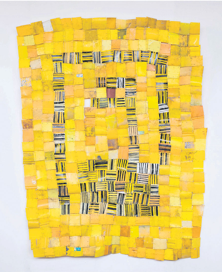 A work by Sergei Attukwei Clottey.