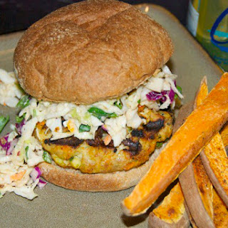 Thai Chicken Burgers and Slaw
