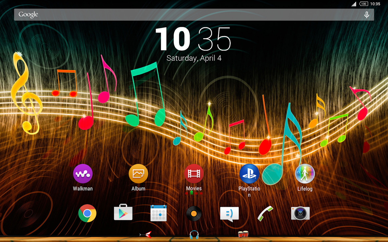 Google themes music - Music Theme For Xperia Screenshot