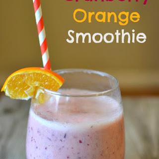 Cranberry Orange Smoothie.