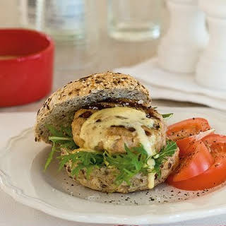 Chicken Burger With Tarragon Mayonnaise.