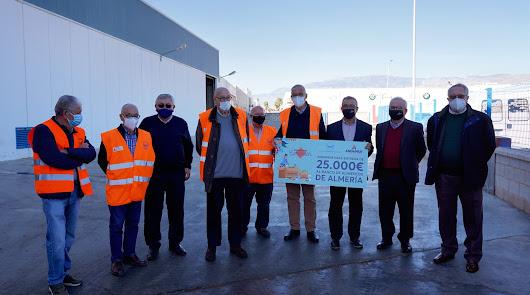 Andamur dona 25.000 euros al Banco de Alimentos de Almería