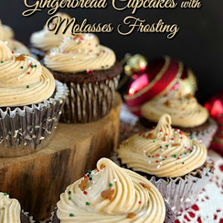 Gingerbread Cupcakes with Molasses Frosting Recipe