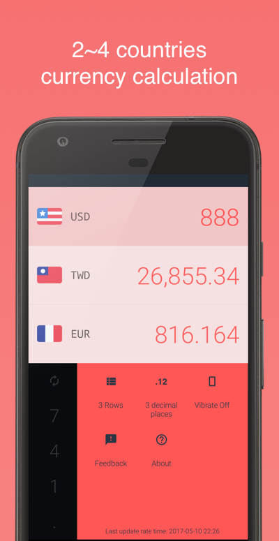 Currency-travel exchange rates- screenshot