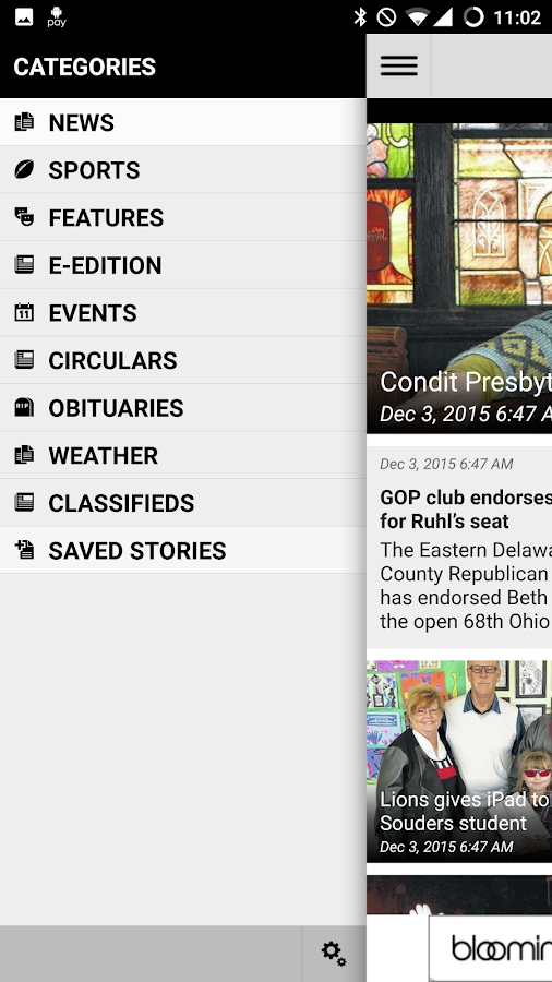Sunbury News- screenshot