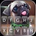 Cute Tongue Pug Keyboard Background icon