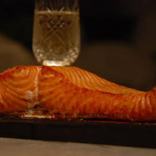 Wildwood Ovens Bourbon Apple Glazed Cedar Plank Salmon.