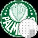 Logotipo Do Futebol Brasileiro Cor Por Número icon