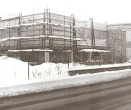 Photo: Výstavba nákupného strediska v Tvrdošíne rok 1986.