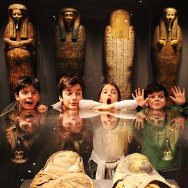 Night at museum by Adi Drnda - Babies & Children Children Candids ( mommy, children, museum, egypt, photography )
