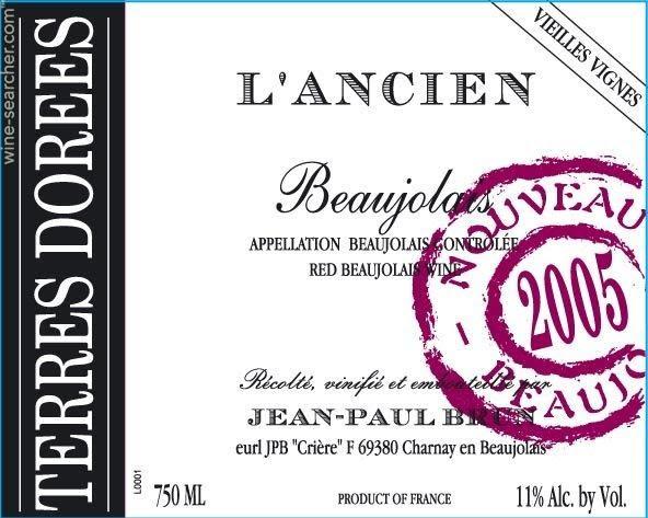 Logo for Jean-Paul Brun Beaujolais Nouveau Vieilles Vignes