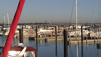 Photo: Chicago from our marina in Hammond, IN.