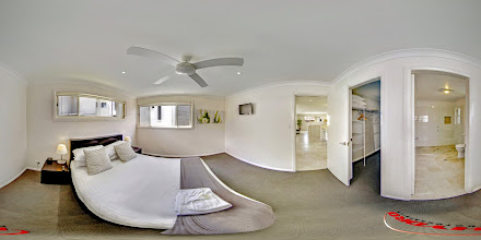 Photo: Luxury Ocean Townhouse - Upstairs Master Bedroom/Ensuite/WIR www.escapeatnobbys.com.au