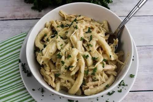 """Click Here for Recipe: Cassie's Comforting Chicken & Noodles """"Just made this..."""