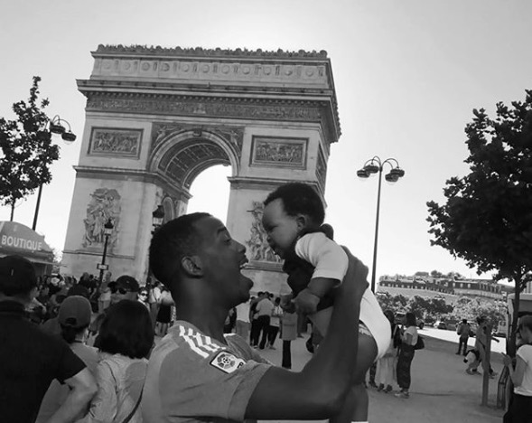 Twinning! Zakes Bantwini and his prince in Paris.