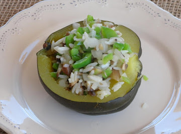 Acorn Squash W/ Rice And Mushroom Medley Recipe