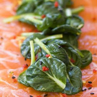 Salmon Carpaccio Salad.