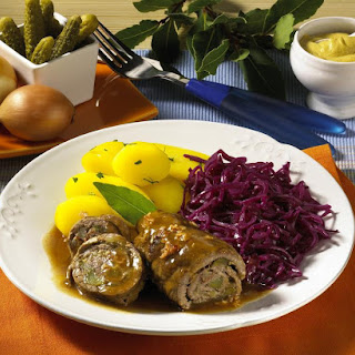Beef Rolls with Braised Cabbage and Potatoes