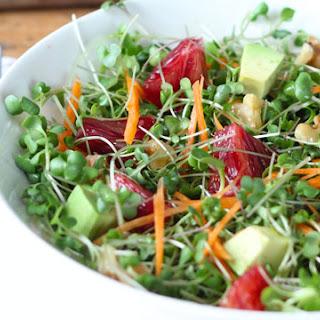 Homegrown Microgreens Salad.