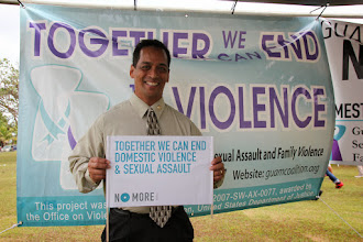 Photo: Senator Frank Aguon Jr. shows his support by standing against domestic violence and sexual assault!