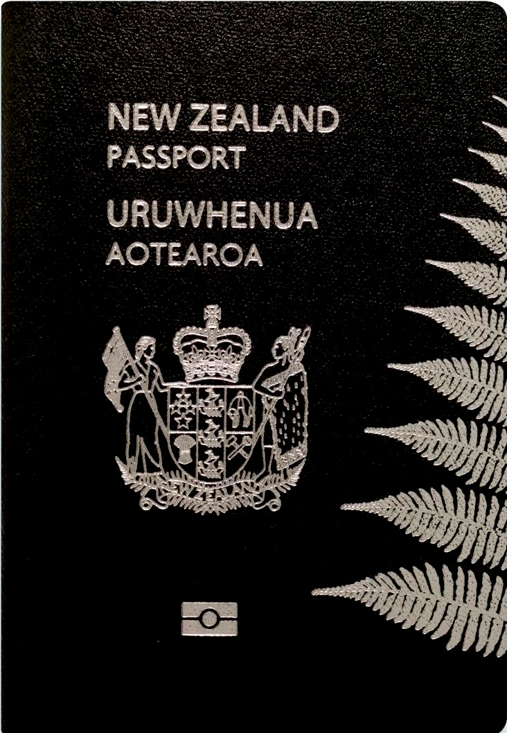 Passport cover of a New Zealander