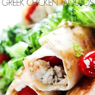 Slow Cooker Greek Chicken Taquitos