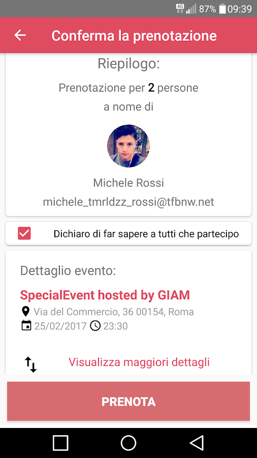 Joyfriend - Eventi Gay Roma e Milano- screenshot