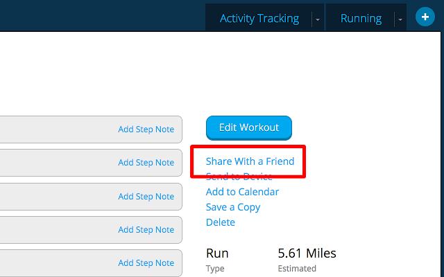TheMorning Run : Garmin Workout Sharing