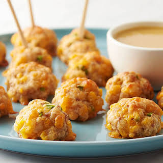 Maple Sausage-Cheese Balls.
