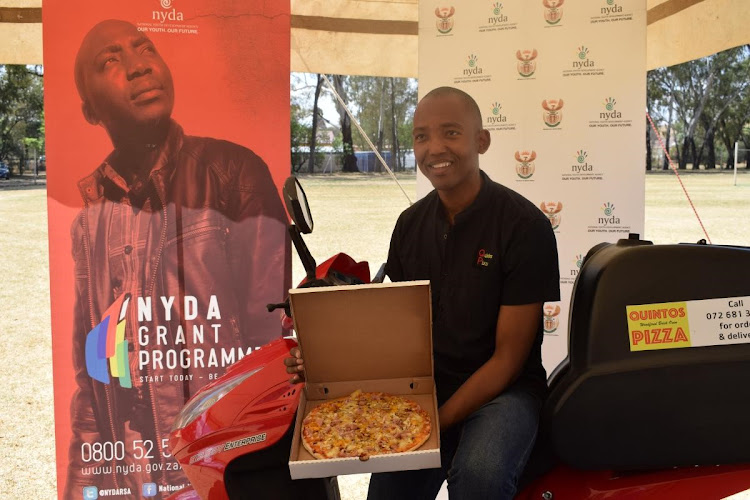 Keorapetse Sebusi owner of Quintos Pizza outlet.