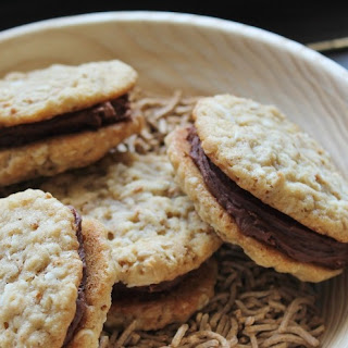 Fudge Oatmeal Sandwich Cookies.