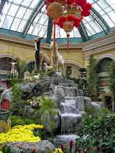Photo: Bellagio Conservatory, with Goat Mountain display for Chinese New Year