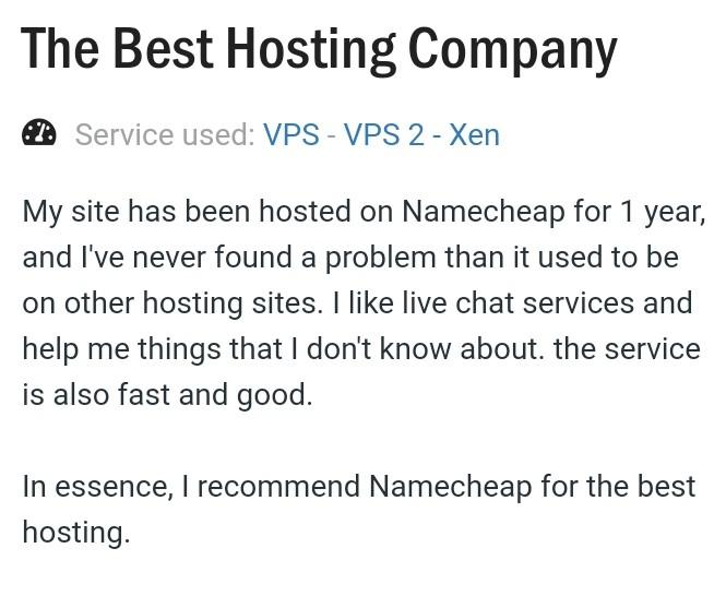 name cheap review at the best hosting company