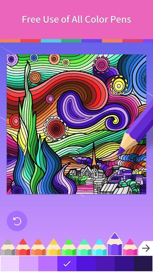 Adult Coloring Book Screenshot